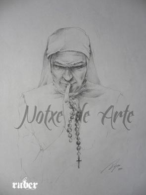 """Boceto Cartel Película """"En Silencio"""", grafito sobre papel. 295x210mm"""